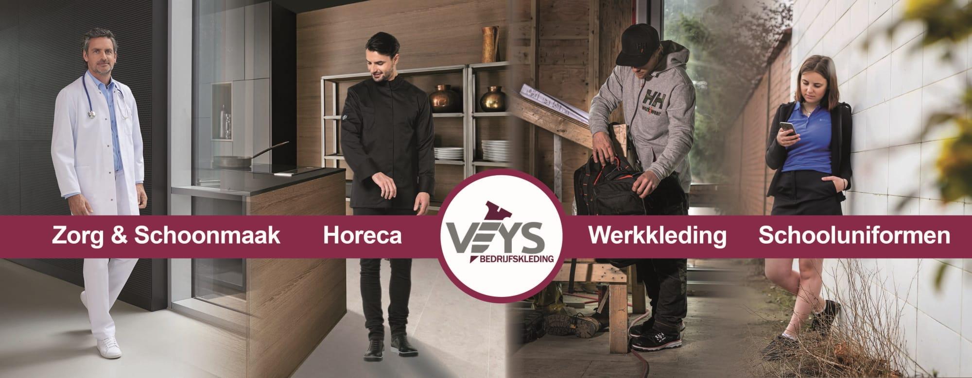 Bedrijfskleding zorg, schoonmaak, horeca & schooluniformen - VEYS werkkledij